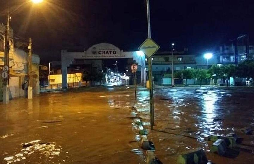 Chuva forte causa grande destruição no Crato na véspera do dia de São José