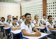 Desde 2007, o índice de abandono escolar caiu de 16,4% para 5%. (Foto: Governo do Ceará)