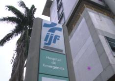 A menina foi transferida do Hospital Municipal de Caucaia para o IJF por conta da gravidade (FOTO: Reprodução/TV Jangadeiro)