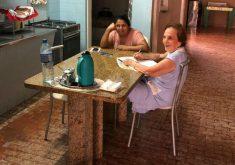 A neta registrou esse momento mágico entre as Marias (FOTO: Arquivo pessoal)