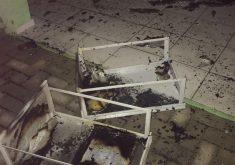 O posto de saúde foi atacado após a morte do jovem (FOTO: Reprodução/Whatsapp)