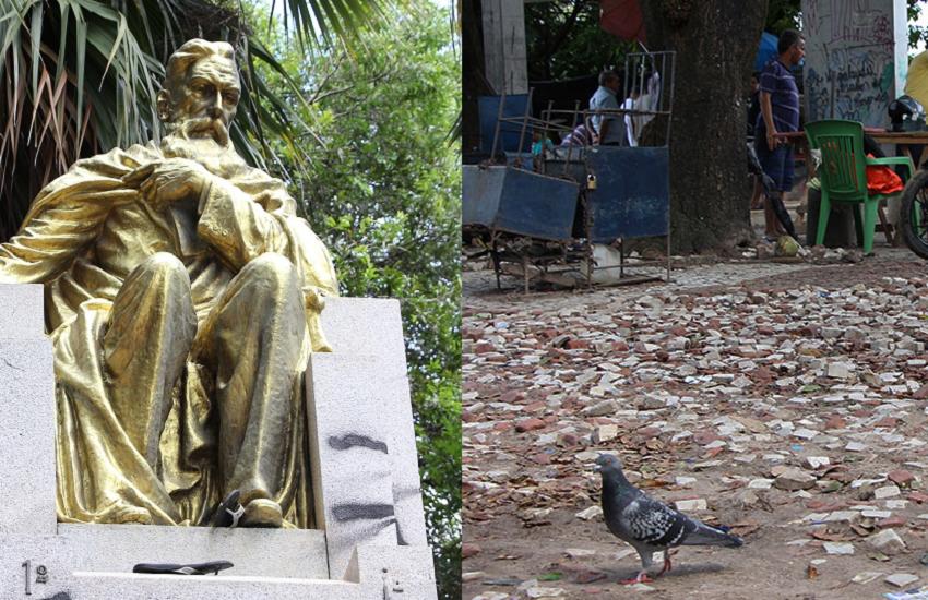 O que José de Alencar diria se visse a desordem urbana na praça que leva seu nome?