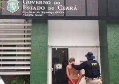 Homem foi preso na manhã desta sexta (FOTO: Reprodução/TV Jangadeiro)