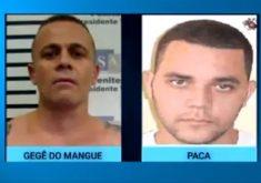 Gegê do Mangue e Paca foram mortos em emboscada em 2018. (Foto: Reprodução/TV Jangadeiro)