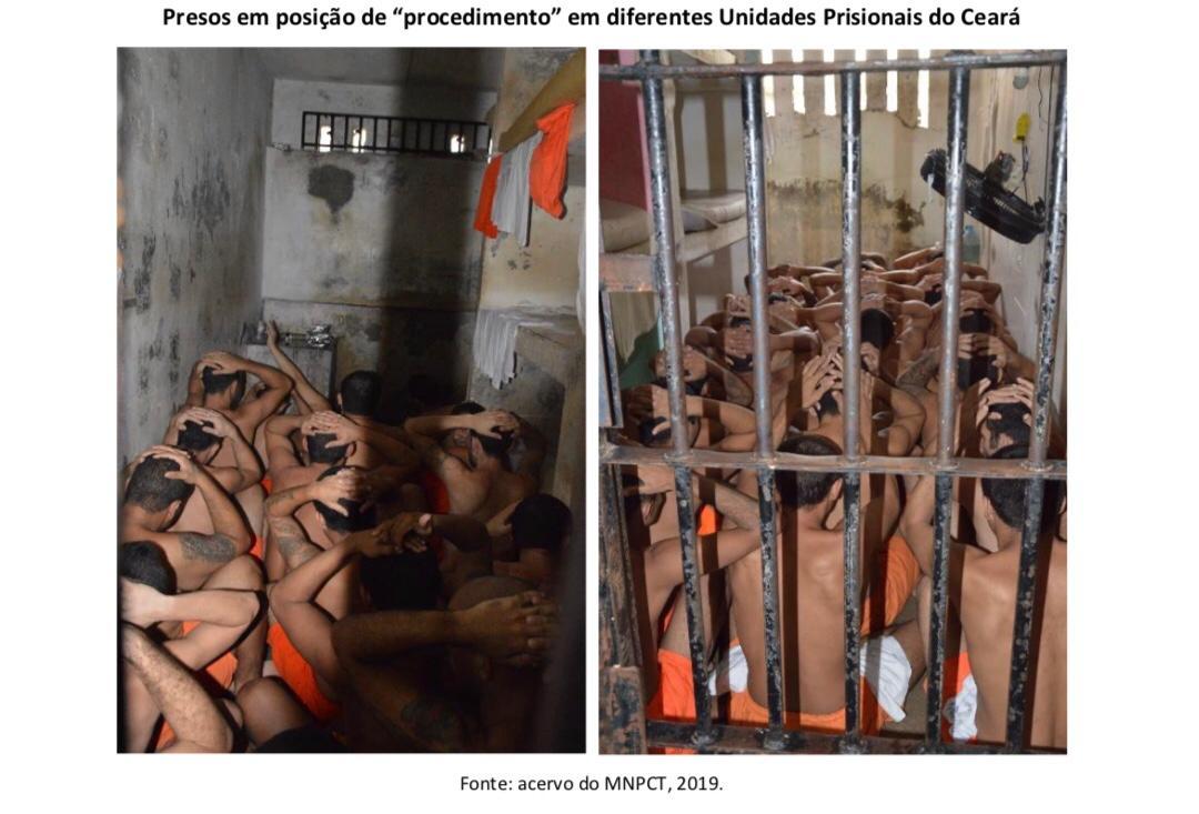 Relatório identificou arbitrariedades nos presídios do Ceará (FOTO: Acervo do MNPCT)