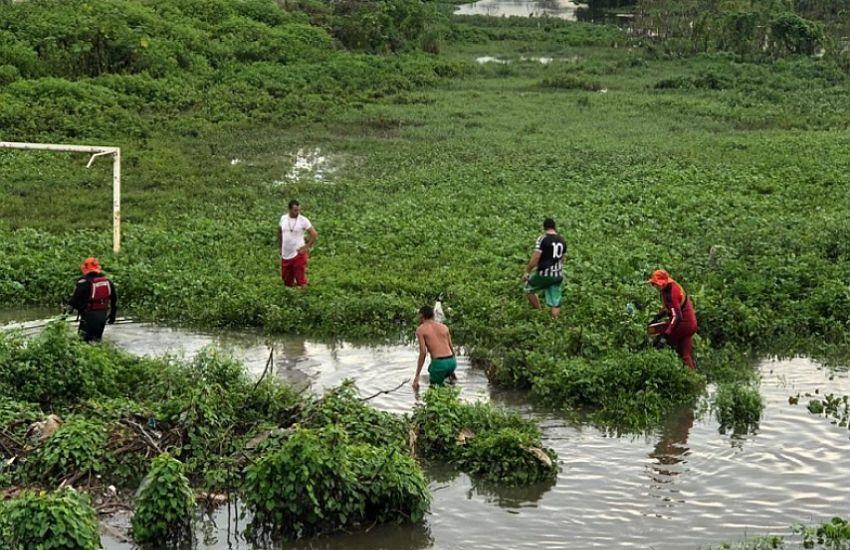 Criança desaparece após cair em rio de Fortaleza