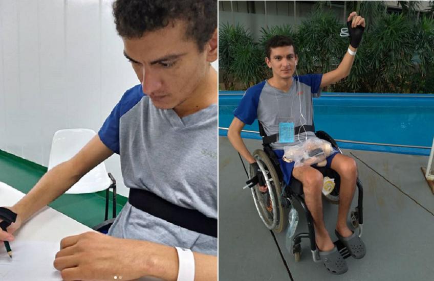 Cearense faz vaquinha para nova cadeira de rodas após sofrer acidente e perder os movimentos das pernas
