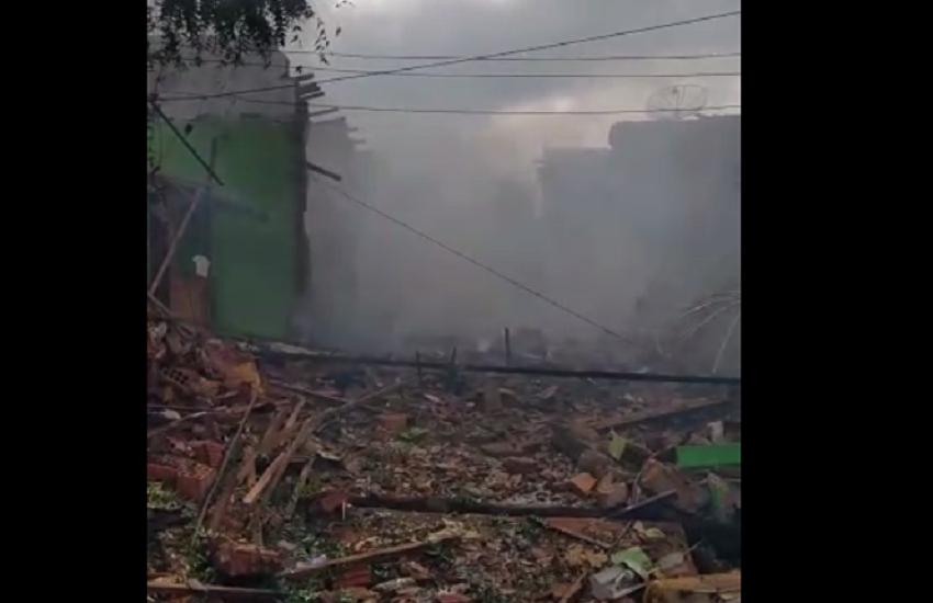 Explosão de fábrica clandestina de fogos deixa 6 feridos em Juazeiro do Norte