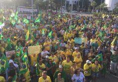 A Polícia Militar não divulgou quantitativo de presentes no ato (FOTO: Cristiano Pantanal/TV Jangadeiro)