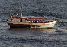 Os sete pescadores foram resgatados na quarta-feira (FOTO: Marinha do Brasil)