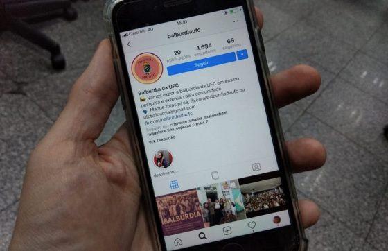 O perfil foi criado para promover e difundir projetos da UFC (FOTO: Tribuna do Ceará)