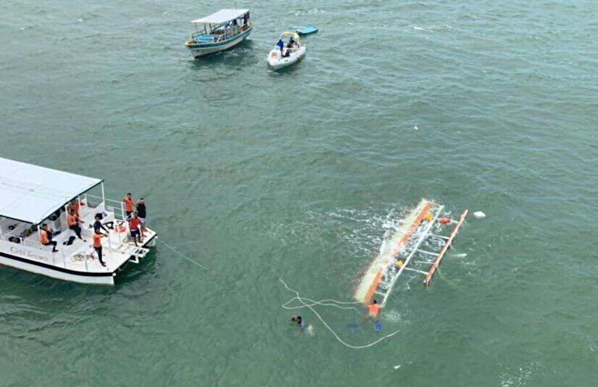 """""""Era uma tragédia anunciada"""", diz Prefeitura de Maragogi sobre naufrágio de catamarã"""