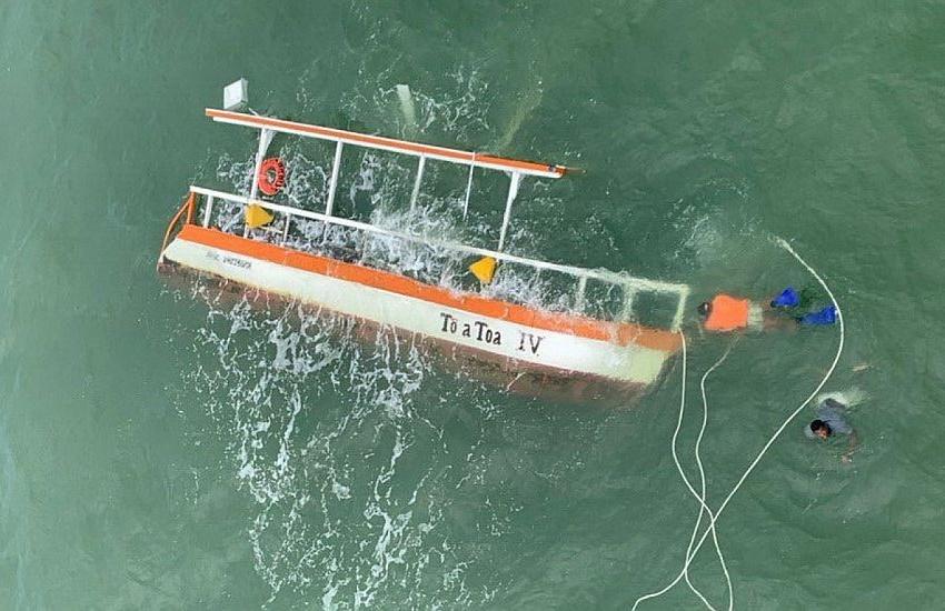 Duas turistas cearenses morrem em naufrágio de catamarã em Maragogi, em Alagoas