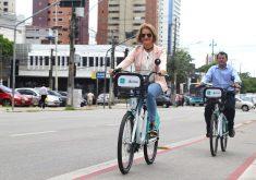 O sistema de bicicletas compartilhadas é voltado para colaboradores da PMF (FOTO: Divulgação/SCSP)