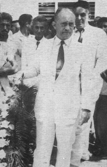 O professor Odilon Gonzaga Braveza era o diretor da escola onde João Nogueira Jucá estudava (FOTO: Arquivo pessoal da família Jucá)