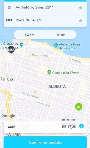 Simulação de corrida: Taxi Tuber