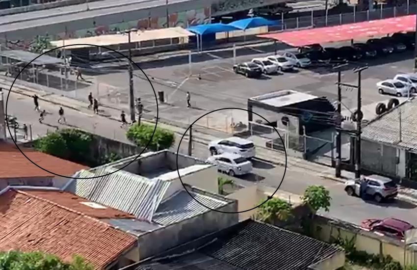 Polícia investiga apedrejamento de veículo registrado em vídeo no bairro Papicu