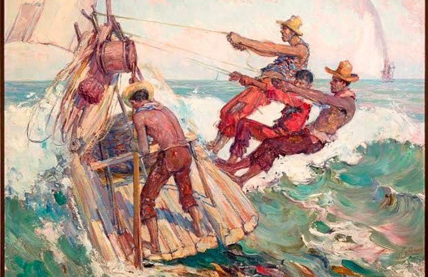 Pesquisa premiada faz um estudo sobre os jangadeiros nas pinturas do cearense Raimundo Cela