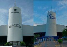 """Em fevereiro de 2018, a fachada que indicava """"Aeroporto Internacional Pinto Martins"""" foi substituída por """"Fortaleza Airport"""" (FOTO: Reprodução/Google Maps)"""