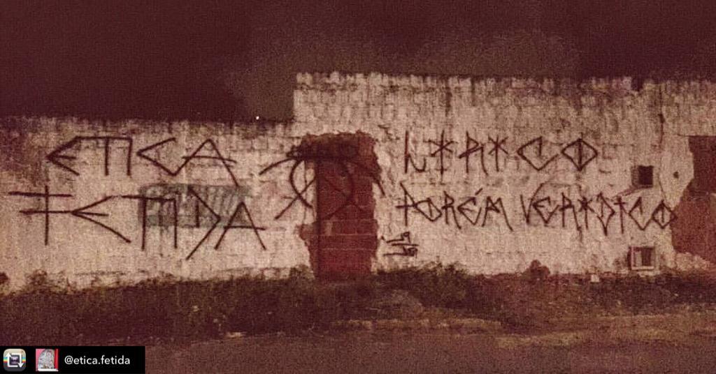 Pichação espalhada por toda Fortaleza