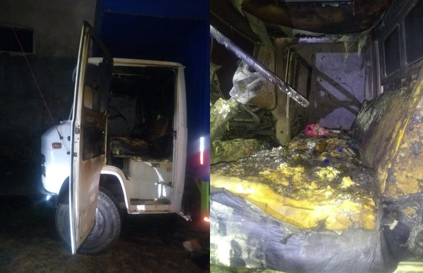 Caminhoneiro tem 48% do corpo queimado após 15 bandidos atearem fogo em veículo