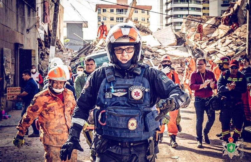 Veja em fotos o trabalho dos bombeiros no desabamento do Edifício Andréa