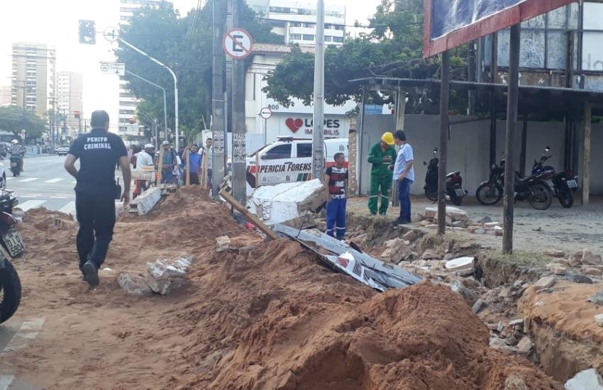 Acidente aconteceu na tarde desta sexta-feira (FOTO: Denes Barbosa/TV Jangadeiro)