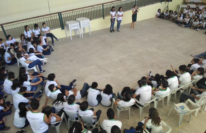 Iniciativa partiu de alunas do Ensino Médio da Escola Estadual de Educação Profissional Edson Queiroz (FOTO: Divulgação)
