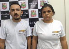 O casal foi preso em flagrante enquanto tentavam aplicar outro golpe (FOTO: Reprodução/WhatsApp)