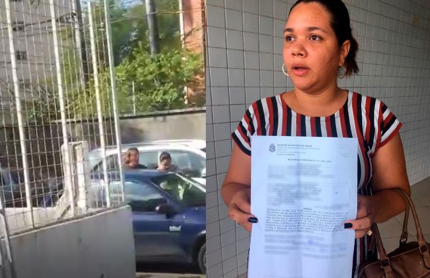 Mulher que foi cuspida e esmurrada em briga de trânsito no Papicu cobra punição do agressor