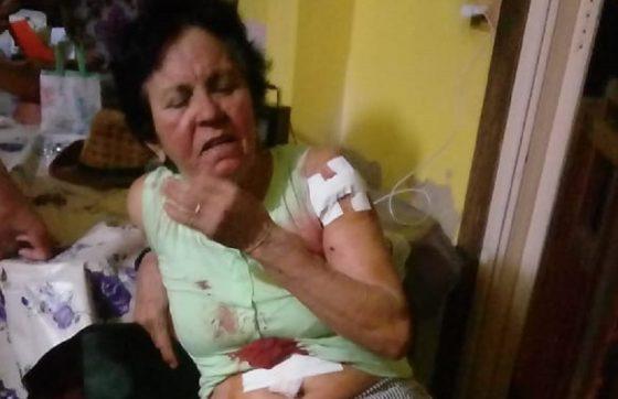 A idosa recebeu atendimento hospitalar e em seguida recebeu alta (FOTO: Reprodução/WhatsApp)