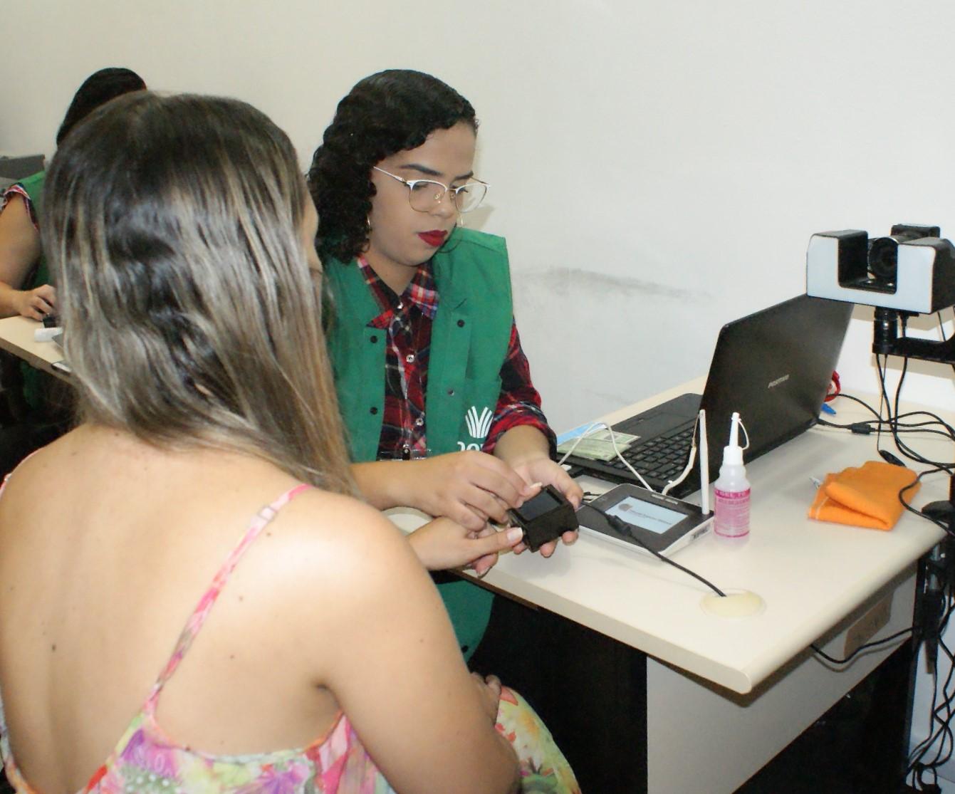 A biometria agora é obrigatória para que o eleitor possa votar (FOTO: Divulgação/TRE)