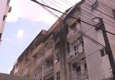 O prédio fica a 1 quilômetro do Edifício Andréa, que desabou no dia 15 de outubro (FOTO: Reprodução/TV Jangadeiro)
