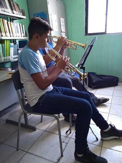 As opções de instrumento são trompete, eufônio, tuba, trombone e trompa de marcha (FOTO: Luana Oliveira/PREX-UFC)