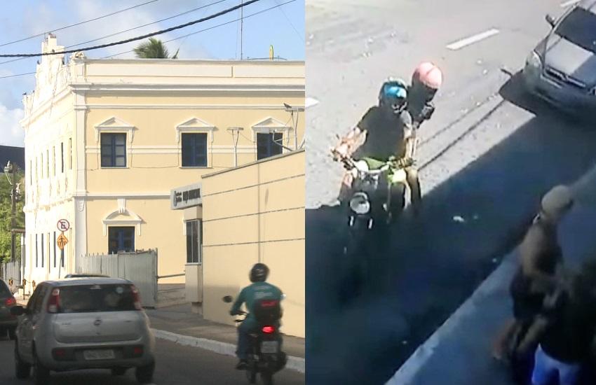 Criminosos não se intimidam e assaltam em frente à sede da Prefeitura de Fortaleza