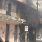 O incêndio aconteceu no início da tarde desta quarta-feira (FOTO: Reprodução/WhatsApp)