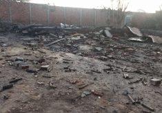 Segundo o Corpo de Bombeiros, a estrutura do local está comprometida (FOTO: Reprodução/WhatsApp)