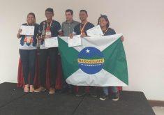 Os alunos do 9º ano da Escola Municipal de Maranguape conquistaram ouro na 13ª edição da MBF (FOTO: Divulgação)