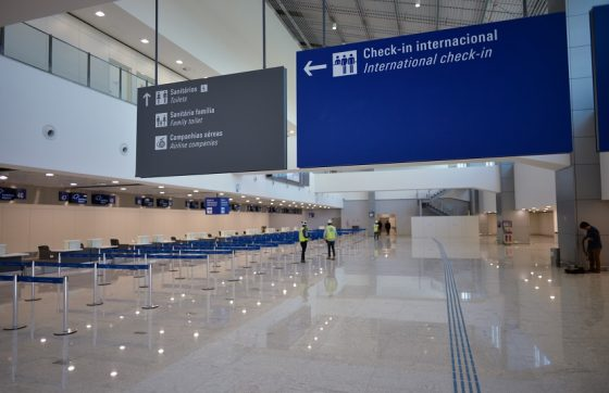 Uma nova área de check-in internacional foi inaugurada em junho de 2019 (FOTO: Reprodução/Governo do Estado)