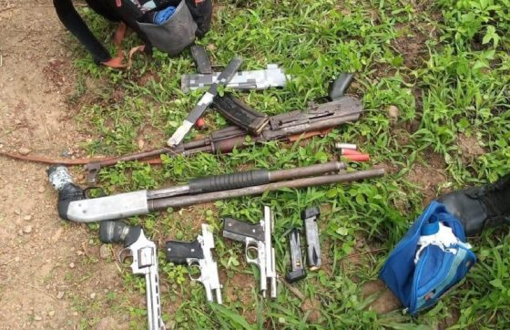 O confronto aconteceu em uma área onde o grupo utilizava como esconderijo (FOTO: Reprodução/WhatsApp)