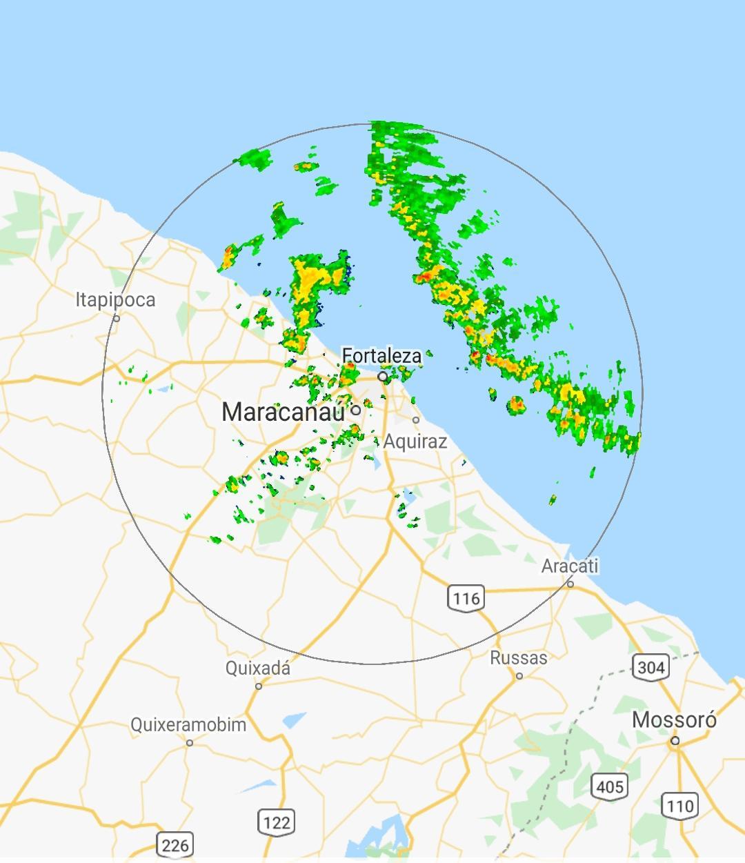 Rajadas de vento em Fortaleza chegaram a 47 km/h, afirma Funceme