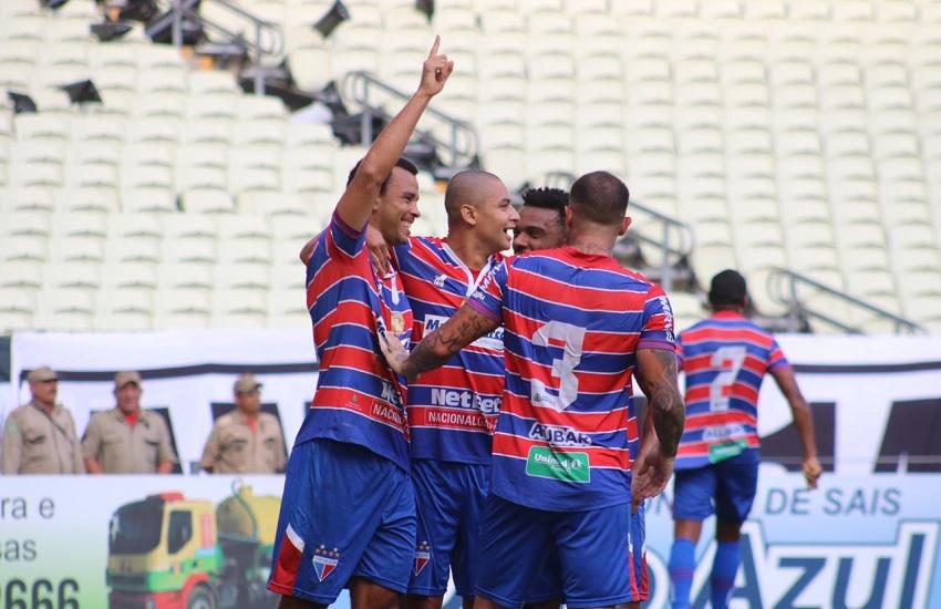 (Foto: Leonardo Moreira /FortalezaEC) Roger Carvalho faz gol do título tricolor