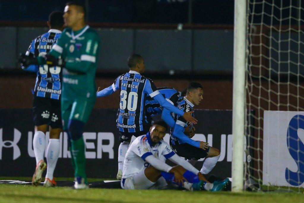 O Fortaleza saiu derrotado na última rodada pelo Grêmio por 1 a 0, em Caxias do Sul. (Foto: Lucas Uebel/Grêmio)
