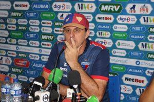 Rogério Ceni concedeu entrevista de imprensa nessa terça-feira (9). (FOTO: Bruno Oliveira/FortalezaEC)