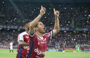 Osvaldo foi o autor do segundo gol tricolor. (FOTO: Leonardo Moreira/Fortaleza EC)