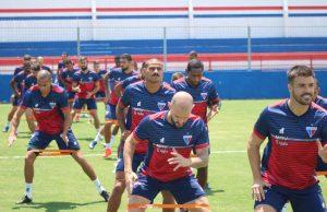 O Fortaleza realizou último treino na tarde de terça-feira (15). (Foto: Bruno Oliveira /FortalezaEC)