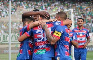 Fortaleza venceu o Goiás fora de casa e garantiu vaga na Sula. (Foto: Luan Erick/Fortaleza EC)