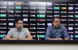 Jorge Macedo e Sérgio Dimas foram apresentados no dia 12 de dezembro do ano passado (FOTO: Marcelo Vidal/cearasc.com)