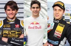 Pietro Fittipaldi, Sérgio Sette Câmara e Felipe Drugovich são alguns dos pilotos que podem chegar à Formula 1 em breve. (Fotos: Divulgação)
