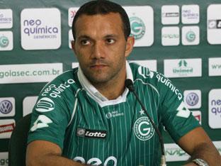 Iarley fez o gol que deu o título da Série B para o Goias Foto: divulgação/ Goiás EC